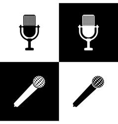 Set of microphones vector image