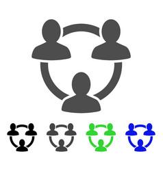 trust circle flat icon vector image