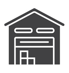 warehouse glyph icon logistic and delivery vector image