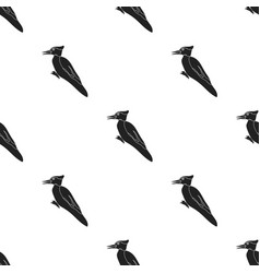 woodpecker icon in black style isolated on white vector image