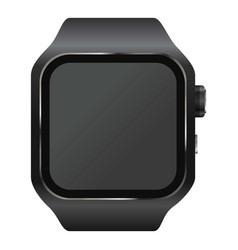 wrist digital watch mockup realistic style vector image