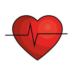 cardio heart icon vector image