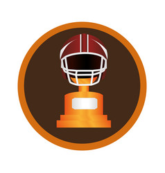 circular frame with american football helmet and vector image vector image