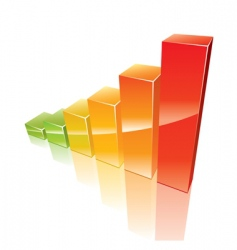colored 3d graph vector image