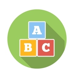 Cubes with letters ABC icon flat style vector image vector image