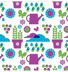 garden objects organic set vector image vector image