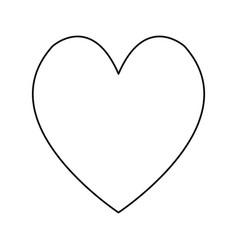 heart love romantic adorable cute line vector image