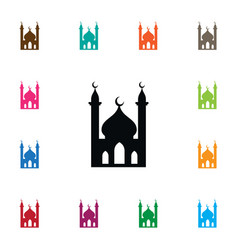 isolated muslim icon religious element can vector image