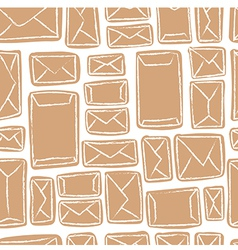 seamless pattern - many craft envelopes vector image vector image