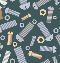Technical seamless pattern bolts and nuts vector image vector image