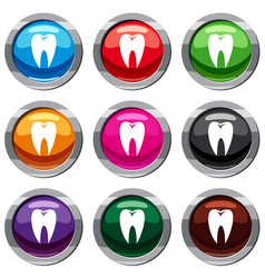 tooth set 9 collection vector image