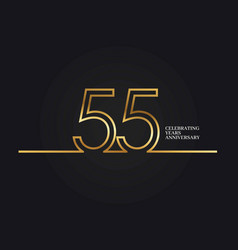 55 years anniversary vector image