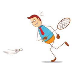 Badminton vector