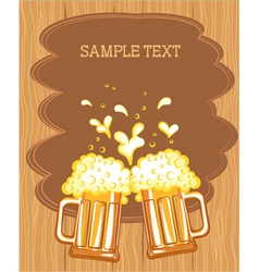 beer fest background vector image