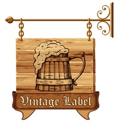 Beer sign vector image vector image