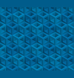 Blue cubes isometric seamless pattern vector