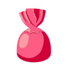 cartoon pink chocolate candy vector image