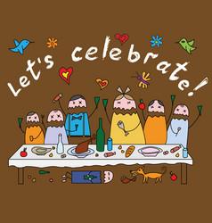 celebrate vector image vector image