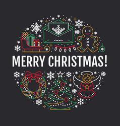 Christmas new year banner vector