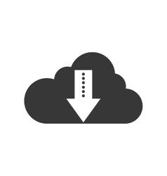 Cloud computing download arrow icon vector