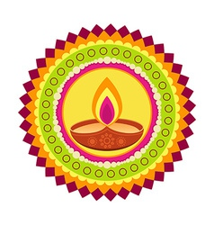 colorful happy diwali vector image