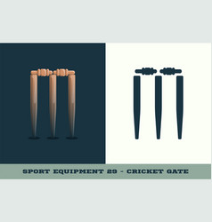 cricket gate icon game equipment professional vector image
