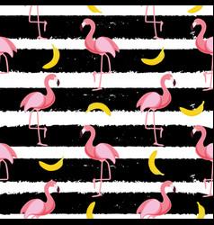 Cute seamless flamingo pattern vector
