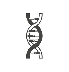 dna helix symbol logo or tattoo concept vector image