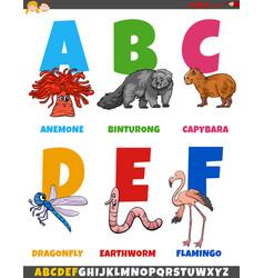 educational cartoon alphabet collection vector image
