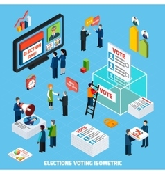 Elections And Voting Isometric Composition vector image