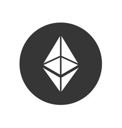 Ethereum coin sign crypto currency icon vector