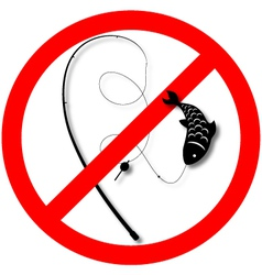 fishing is prohibited vector image