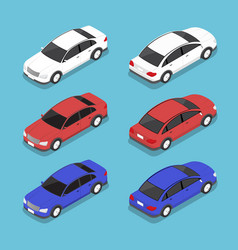 flat 3d isometric car vector image