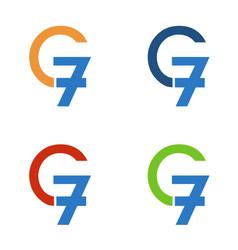 g7 logo vector image