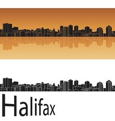 Halifax skyline in orange background vector image