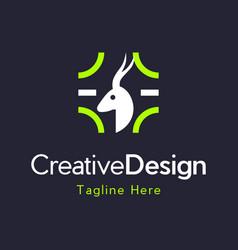 Head impala animal wildlife creative logo vector