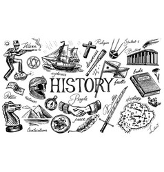history people science and education vector image