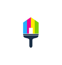 house paint logo icon design vector image