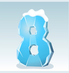 Ice number eight vector