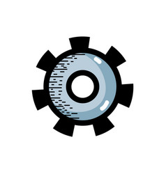 industry gear process to technical engine vector image