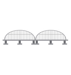 isolated bridge structure vector image