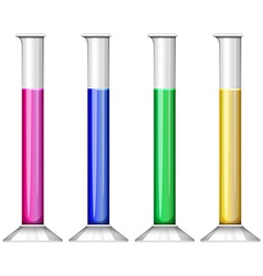 Liquid substance in test tube vector image