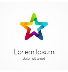 Logo template Abstract star creative sign vector
