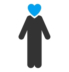 Lover Man Flat Icon vector image