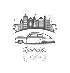 Lowrider club logotype vector