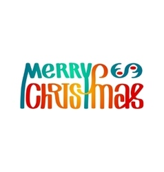 merry christmas wording vector image vector image