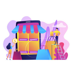 mobile based marketplace concept vector image