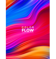 Modern colorful flow poster wave liquid shape in vector