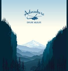 mountain landscape and design element vector image