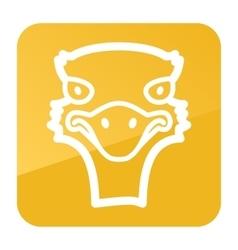 Ostrich icon animal head vector